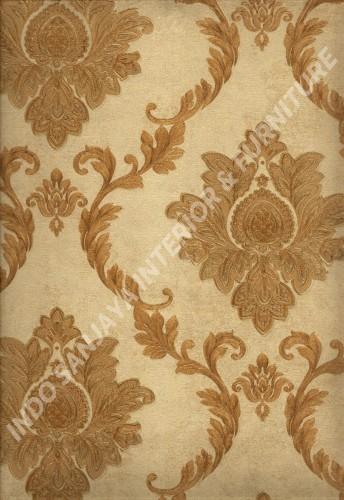 wallpaper   Wallpaper Klasik Batik (Damask) L444-15:L444-15 corak  warna