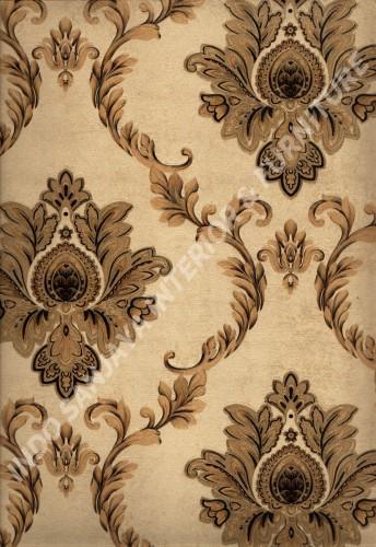 wallpaper   Wallpaper Klasik Batik (Damask) L444-17:L444-17 corak  warna