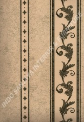 wallpaper LEVANTE:L444-18 corak Klasik / Batik (Damask) warna Hijau,Cream,Coklat