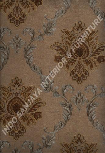 wallpaper   Wallpaper Klasik Batik (Damask) L444-21:L444-21 corak  warna