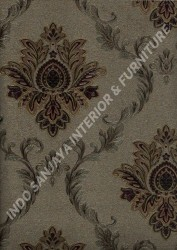 wallpaper LEVANTE:L444-23 corak Klasik / Batik (Damask) warna Abu-Abu,Cream,Coklat