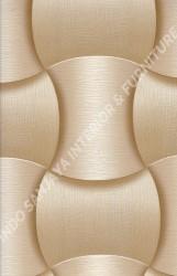 wallpaper LEVANTE:L444-01 corak Modern / 3D warna Cream,Coklat