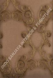 wallpaper LEVANTE:L444-33 corak Klasik / Batik (Damask) warna Coklat
