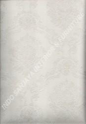wallpaper LEVANTE:L444-45 corak Klasik / Batik (Damask) warna Putih,Abu-Abu
