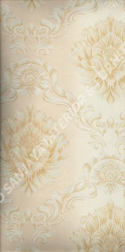 wallpaper LEVANTE:L444-46 corak Klasik / Batik (Damask) warna Cream