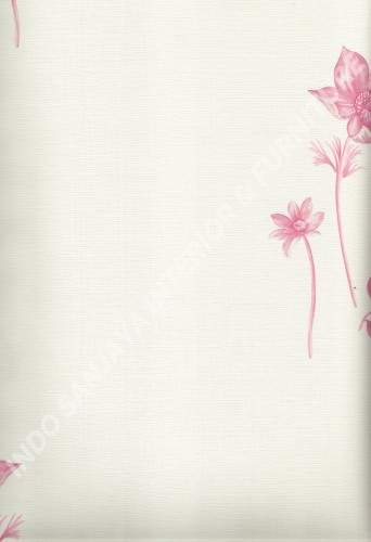 wallpaper LEVANTE:L444-51 corak Bunga warna Cream ,Pink
