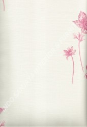 wallpaper LEVANTE:L444-51 corak Bunga warna Cream,Pink