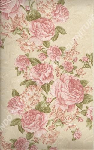 wallpaper LEVANTE:L444-52 corak Bunga warna Merah ,Cream ,Pink