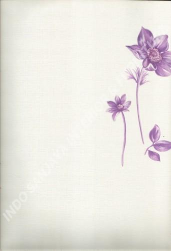 wallpaper LEVANTE:L444-54 corak Bunga warna Putih ,Abu-Abu ,Ungu