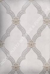 wallpaper LEVANTE:L444-72 corak Klasik / Batik (Damask) warna Abu-Abu