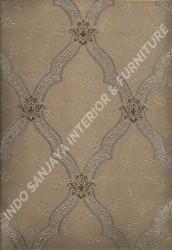 wallpaper LEVANTE:L444-76 corak Klasik / Batik (Damask) warna Coklat