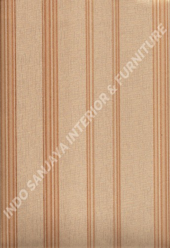 wallpaper LEVANTE:L444-77 corak Garis warna Cream ,Coklat