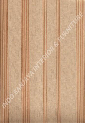 wallpaper LEVANTE:L444-77 corak Garis warna Cream ,Coklat