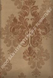 wallpaper LEVANTE:L444-78 corak Klasik / Batik (Damask) warna Coklat