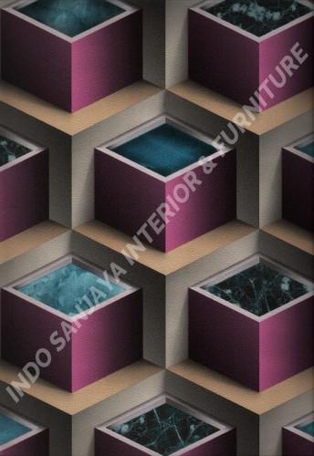 wallpaper   Wallpaper Modern 3D 703-2:703-2 corak  warna
