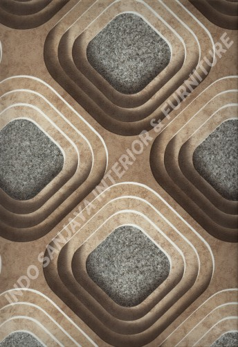 wallpaper   Wallpaper Bulat Geometri 704-4:704-4 corak  warna