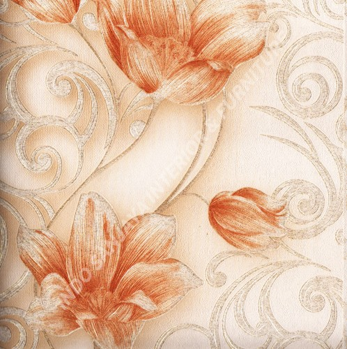 wallpaper   Wallpaper Bunga 318104:318104 corak  warna