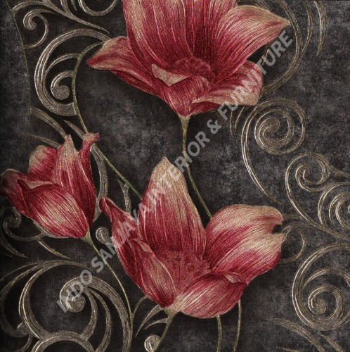 wallpaper   Wallpaper Bunga 318106:318106 corak  warna