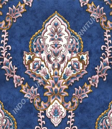 wallpaper   Wallpaper Klasik Batik (Damask) B-2501:B-2501 corak  warna