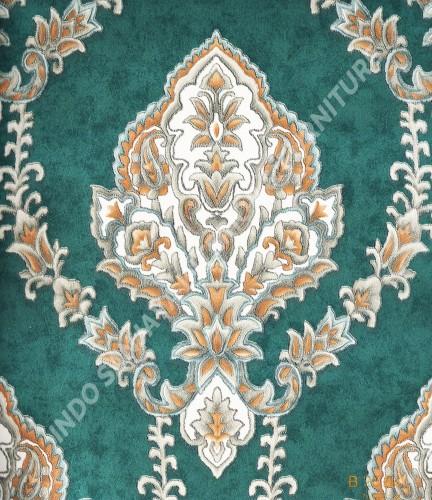 wallpaper   Wallpaper Klasik Batik (Damask) B-2504:B-2504 corak  warna