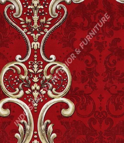 wallpaper   Wallpaper Klasik Batik (Damask) B-2509:B-2509 corak  warna