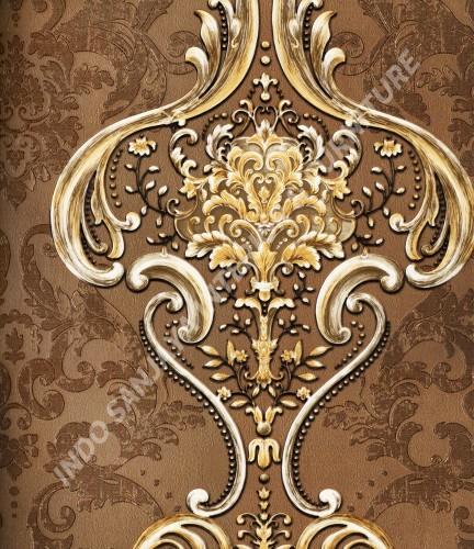 wallpaper   Wallpaper Klasik Batik (Damask) B-2512:B-2512 corak  warna