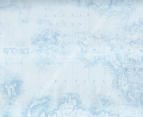 wallpaper Happy Kids:KH-04 corak Anak warna Putih ,Biru