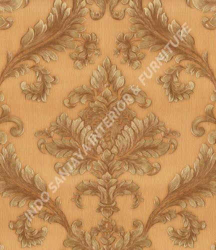 wallpaper   Wallpaper Klasik Batik (Damask) 360005:360005 corak  warna