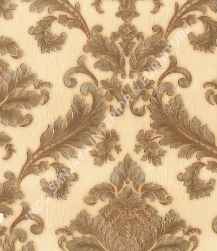 wallpaper   Wallpaper Klasik Batik (Damask) 360004:360004 corak  warna