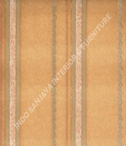 wallpaper Celio:360205 corak Klasik / Batik (Damask) warna Kuning ,Cream