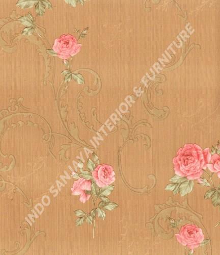 wallpaper   Wallpaper Klasik Batik (Damask) 363404:363404 corak  warna