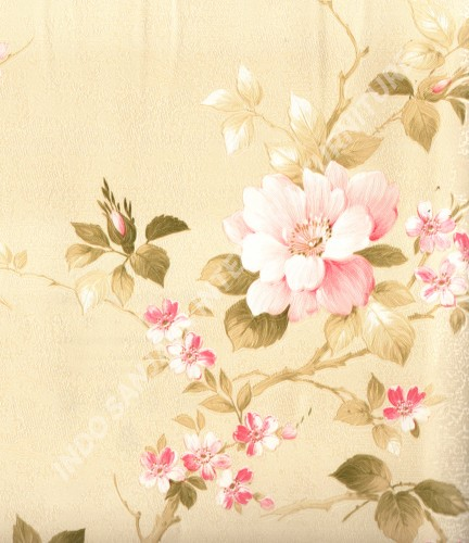 wallpaper   Wallpaper Bunga MD7330:MD7330 corak  warna