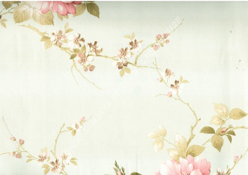wallpaper   Wallpaper Bunga MD7331:MD7331 corak  warna
