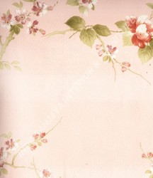 wallpaper MADONA:MD7332 corak Bunga,Minimalis / Polos warna Biru