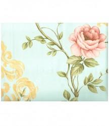 wallpaper MADONA:MD3574 corak Bunga,Minimalis / Polos warna Biru