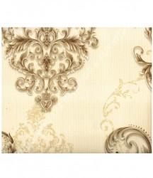 wallpaper MADONA:MD3512 corak Modern / 3D warna Cream,Coklat