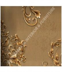 wallpaper MADONA:MD3515 corak Modern / 3D warna Cream,Coklat