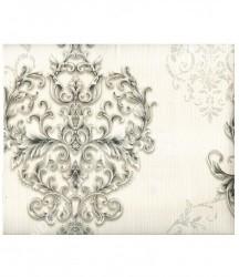 wallpaper MADONA:MD3510 corak Klasik / Batik (Damask) warna Putih
