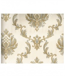 wallpaper MADONA:MD8041 corak Klasik / Batik (Damask) warna Cream