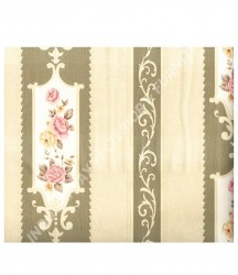wallpaper MADONA:MD7364 corak Klasik / Batik (Damask) warna Cream