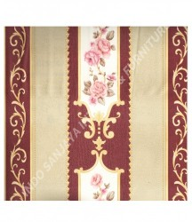 wallpaper MADONA:MD7363 corak Klasik / Batik (Damask) warna Cream