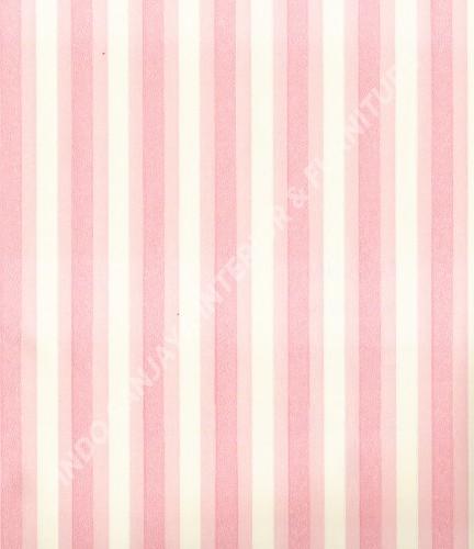 wallpaper MADONA:MD6072 corak Garis warna Putih ,Biru ,Pink
