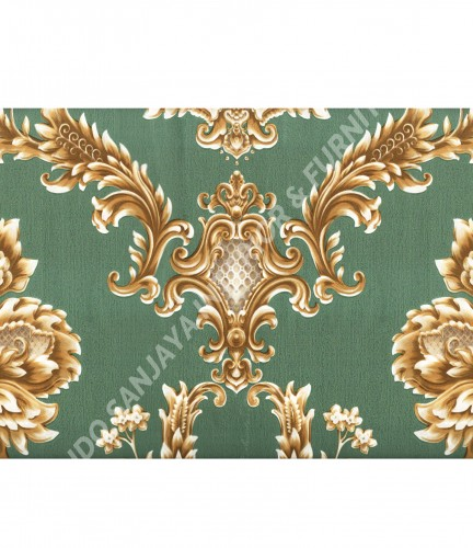 wallpaper Wallpaper Klasik Batik (Damask) MD3505:MD3505 corak  warna