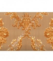 wallpaper MADONA:MD3503 corak Klasik / Batik (Damask) warna Hijau,Cream