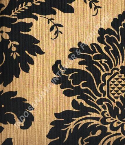 wallpaper Wallpaper Klasik Batik (Damask) 13-22129:13-22129 corak  warna